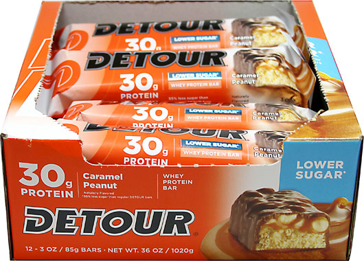 DETOURプロテインバー(Detour Whey Protein Bars)の「Caramel Peanut」