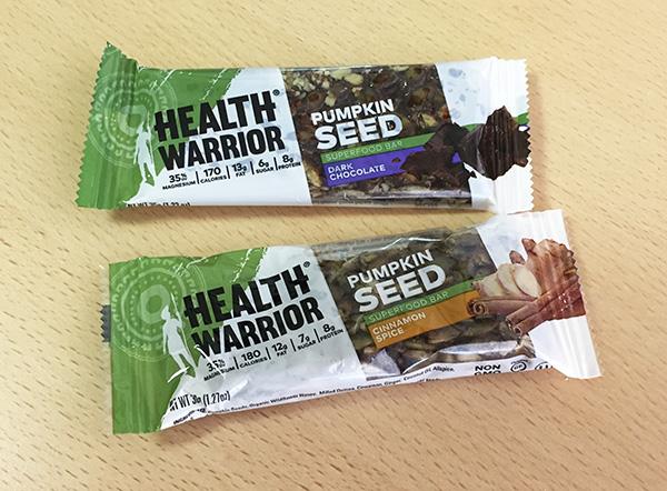 ヘルス ウォーリアー(Health Warrior)の「パンプキン シードバー」を食べてみた感想をレビュー